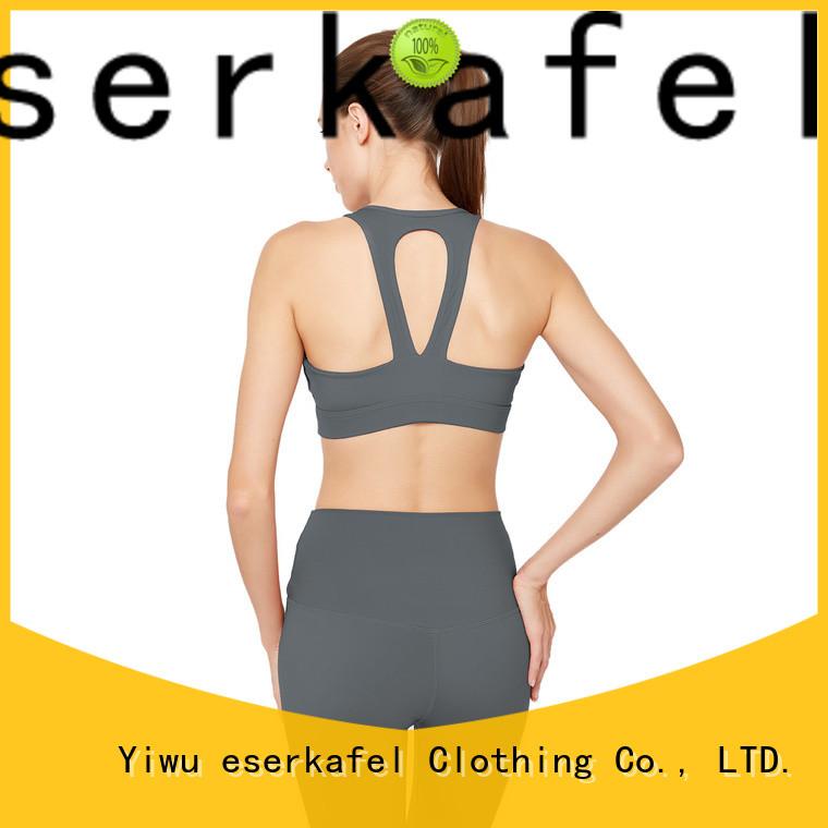 ESERKAFEL racerback sports bra factory for female