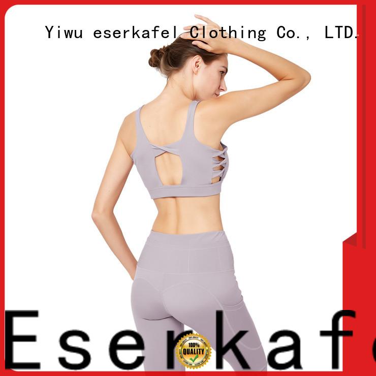 ESERKAFEL custom push up sports bra wholesale