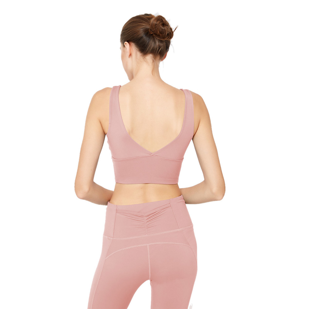 High Support Sports Bra Open Back For Fitness Yoga