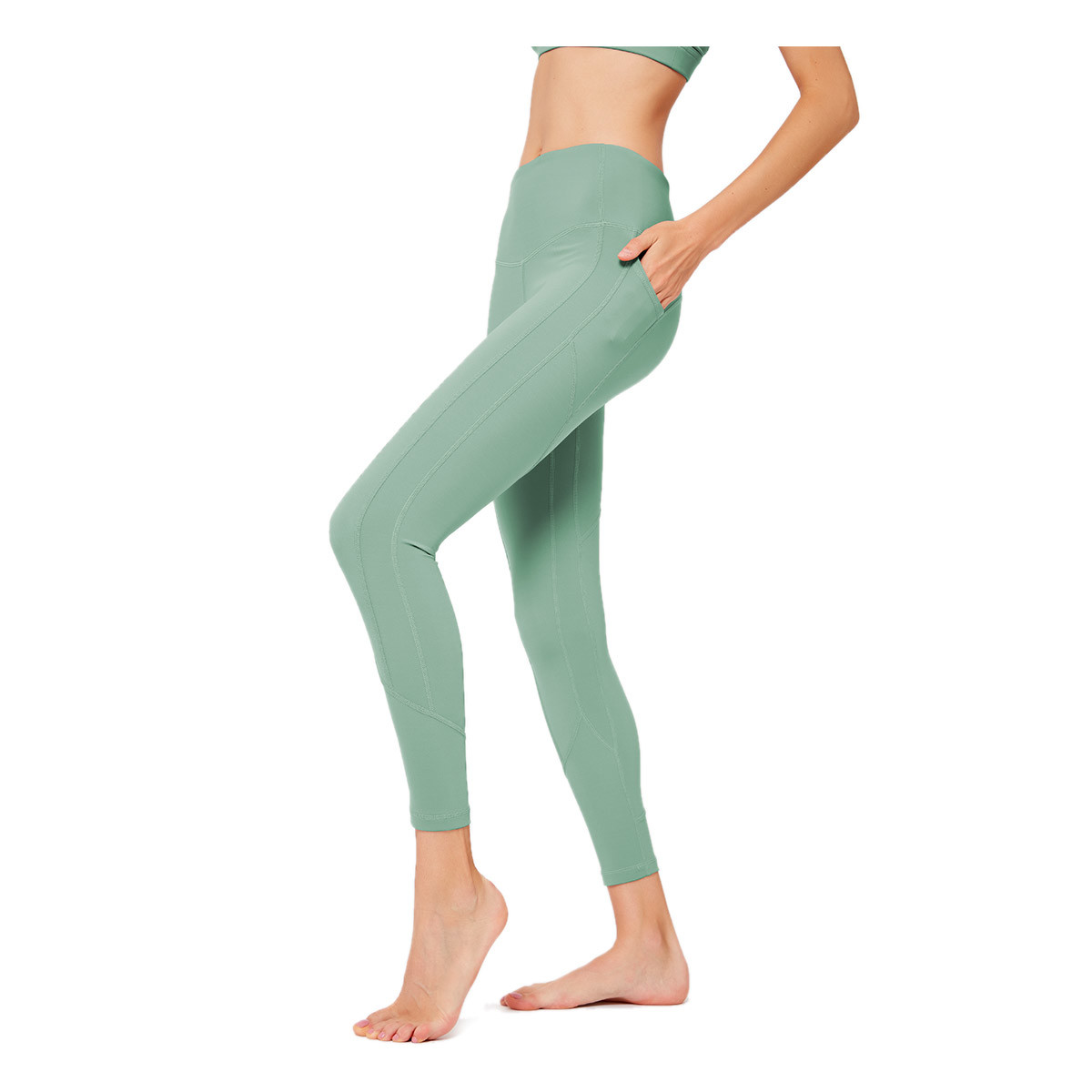 Custom Women's Color Slashed Leggings Nylon Spandex Lycra Fabric Material