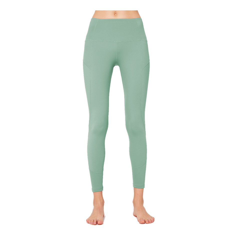 Ladies Cheap Sports Patchwork Leggings With Pockets