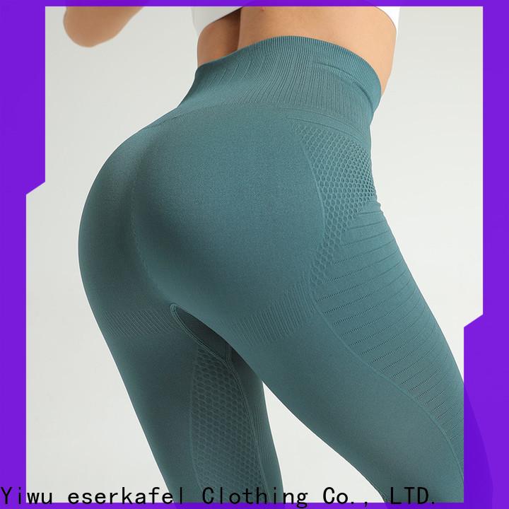 ESERKAFEL 100% quality high waist seamless leggings trader for female