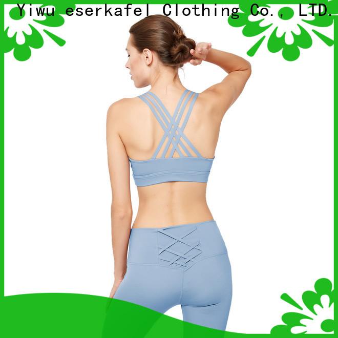 ESERKAFEL 100% quality push up sports bra factory for sport