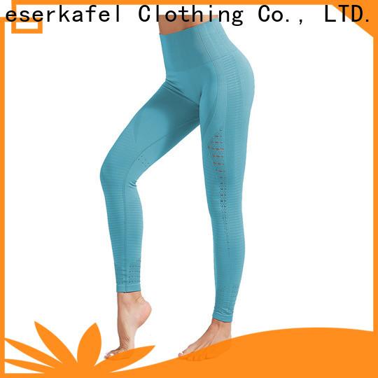 custom black seamless leggings supplier for female