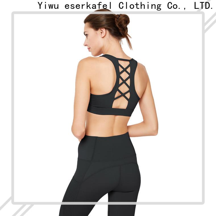 100% quality cross back sports bra manufacturer for women