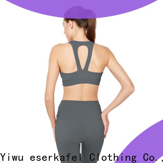 ESERKAFEL 100% quality adjustable sports bra trader for female
