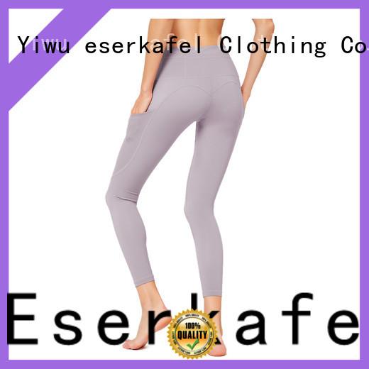 ESERKAFEL custom four needle six thread leggings factory for sport