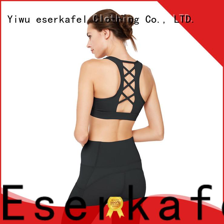ESERKAFEL best-selling strappy back sports bra trader for sport