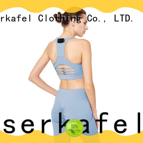 ESERKAFEL custom racerback sports bra trader for women