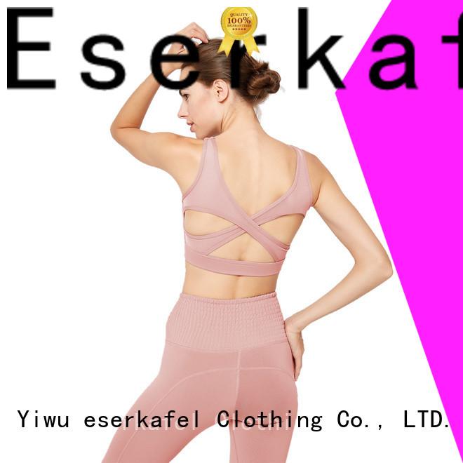ESERKAFEL best-selling push up sports bra supplier for sport