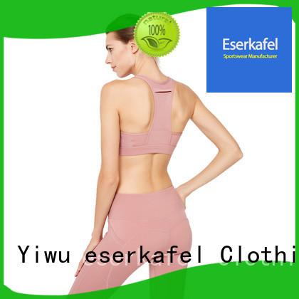 ESERKAFEL 100% quality molded cup sports bra trader for female