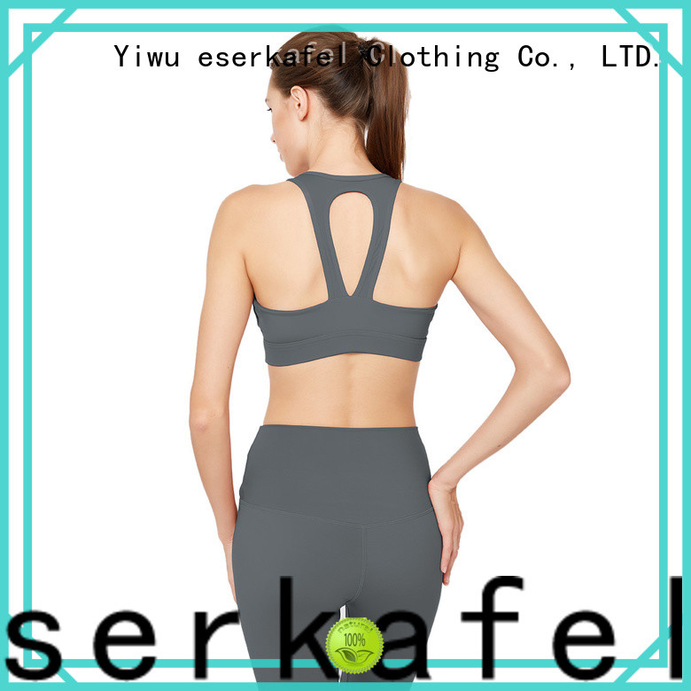 ESERKAFEL 100% quality strappy sports bra manufacturer