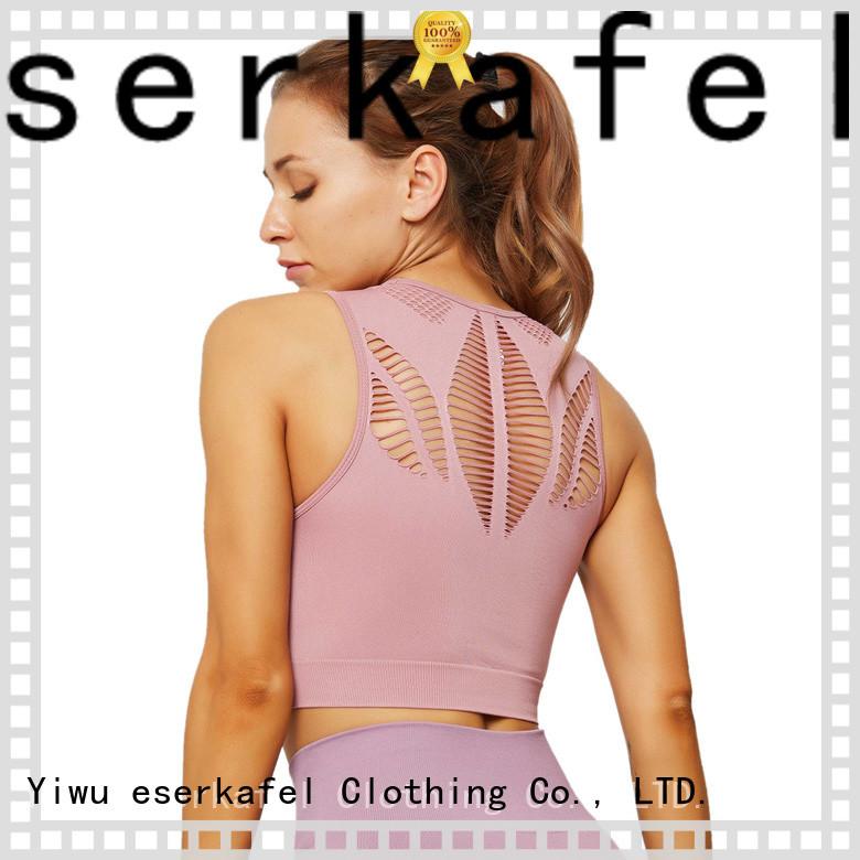 ESERKAFEL custom crop top sports bra supplier
