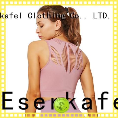 ESERKAFEL modern high neck sports bra trader for women
