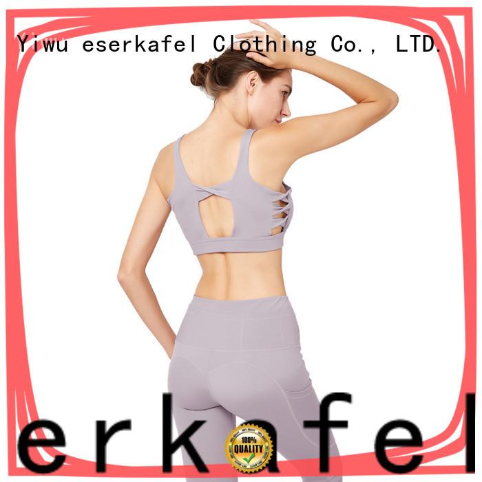 ESERKAFEL custom racerback bra factory for female