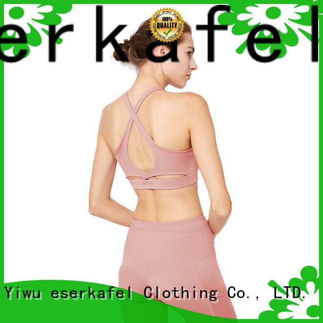 ESERKAFEL cross back sports bra supplier