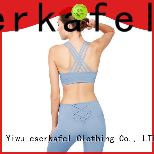 ESERKAFEL custom padded sports bra factory for female