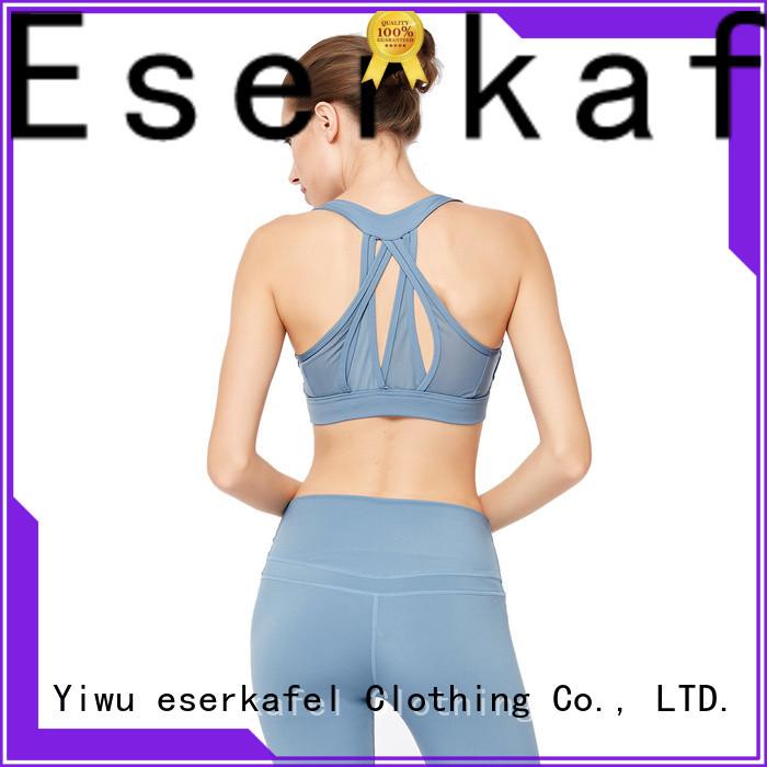 ESERKAFEL 100% quality strappy sports bra wholesale