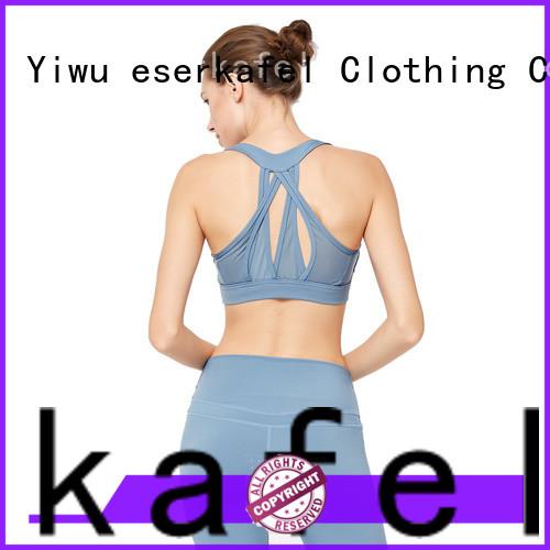 ESERKAFEL custom strappy sports bra factory for female