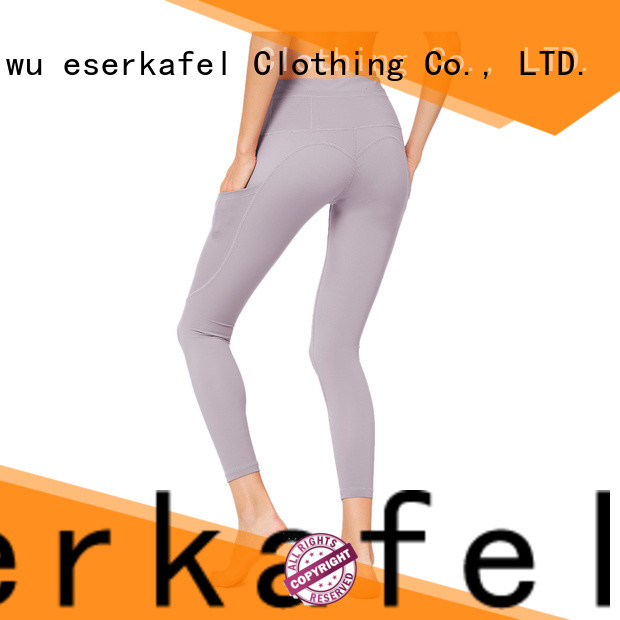 ESERKAFEL four needle six thread leggings manufacturer for female