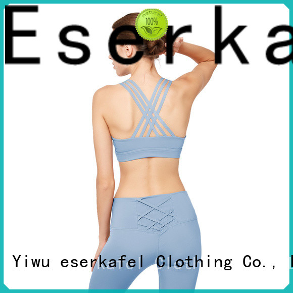 ESERKAFEL compression sports bra wholesale for female