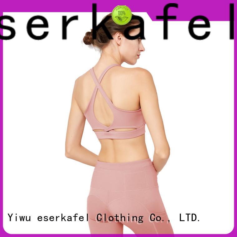 ESERKAFEL 100% quality compression sports bra factory for female