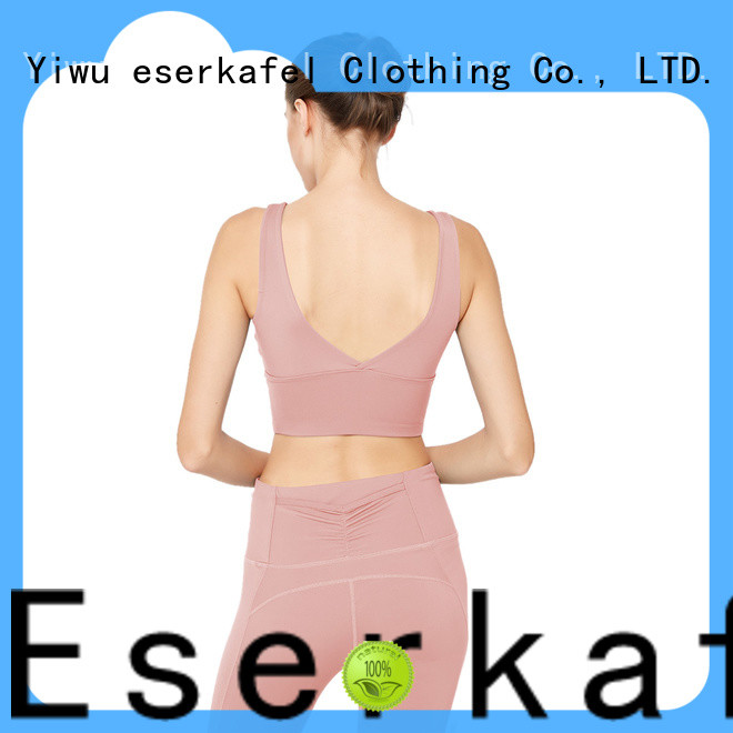 ESERKAFEL 100% quality supportive sports bras manufacturer for women
