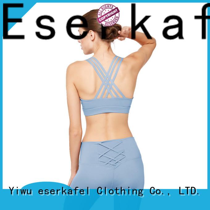 ESERKAFEL custom push up sports bra trader for sport