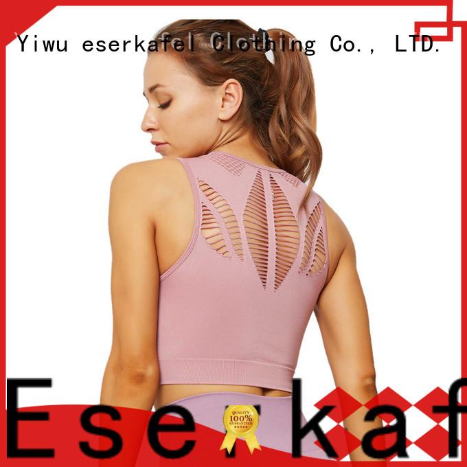 ESERKAFEL modern criss cross sports bra wholesale for women