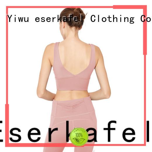 ESERKAFEL high support sports bra trader for female